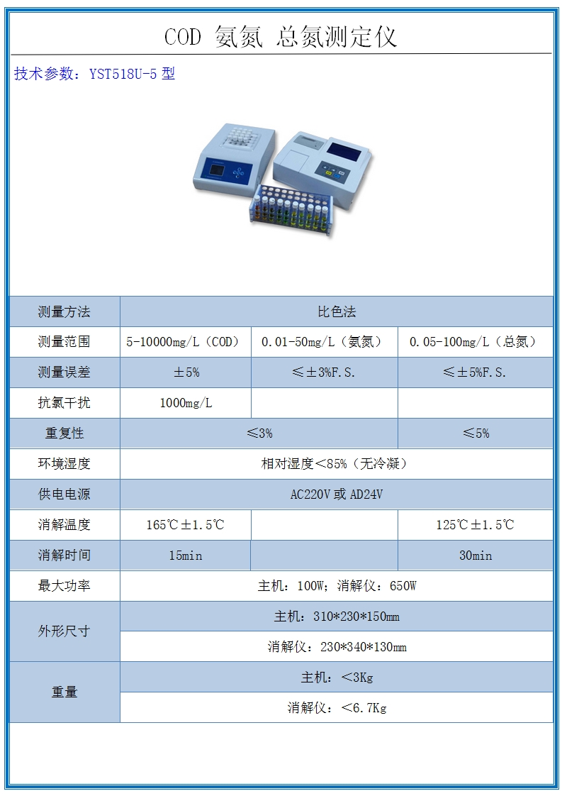 COD氨氮總氮測定儀