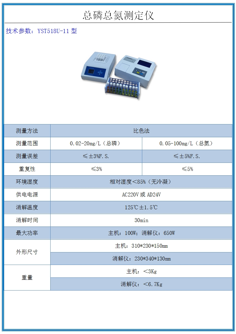 總磷總氮測定儀